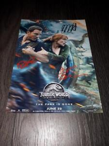 JURASSIC-WORLD-2-CAST-PP-SIGNED-12-034-X8-034-A4-PHOTO-POSTER-PARK-FALLEN-KINGDOM