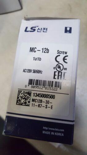 New MC-12B LS Metasol Contactor MC012b//3-120 3 P 12 Amp 1 NA 1NO UL 120V