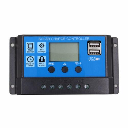 1X 10A 12V 24V Auto Arbeit PWM Solar Laderegler mit LCD Dual USB 5V K4N8