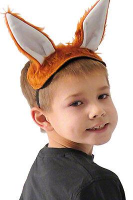 Pack of 4 Furry Animal Headbands Childrens Animal Fancy Dress School Theatre