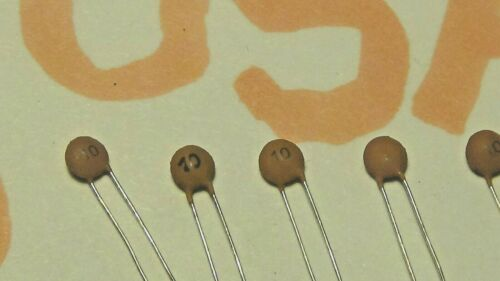 10pcs 0.010nf SHIPS TODAY! 10pf Ceramic Disc Capacitor 50v