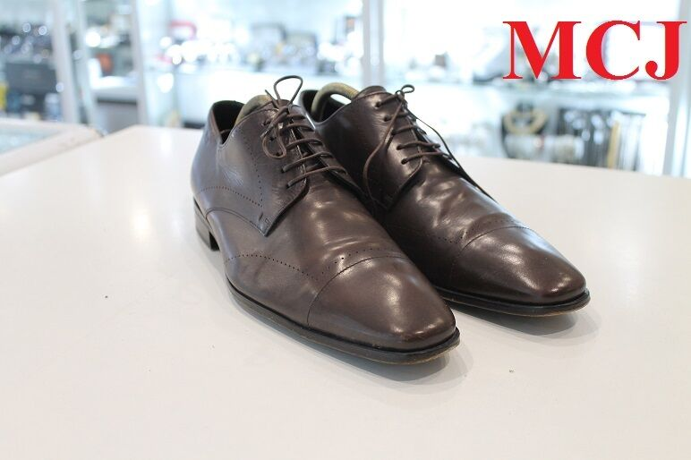 used  HUGO BOSS sz 10 Brown Leather Men shoes