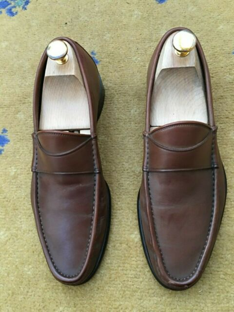 7be9453b8 Gucci Mens Shoes Brown Leather Loafer UK 6 US 7 EU 40 | eBay