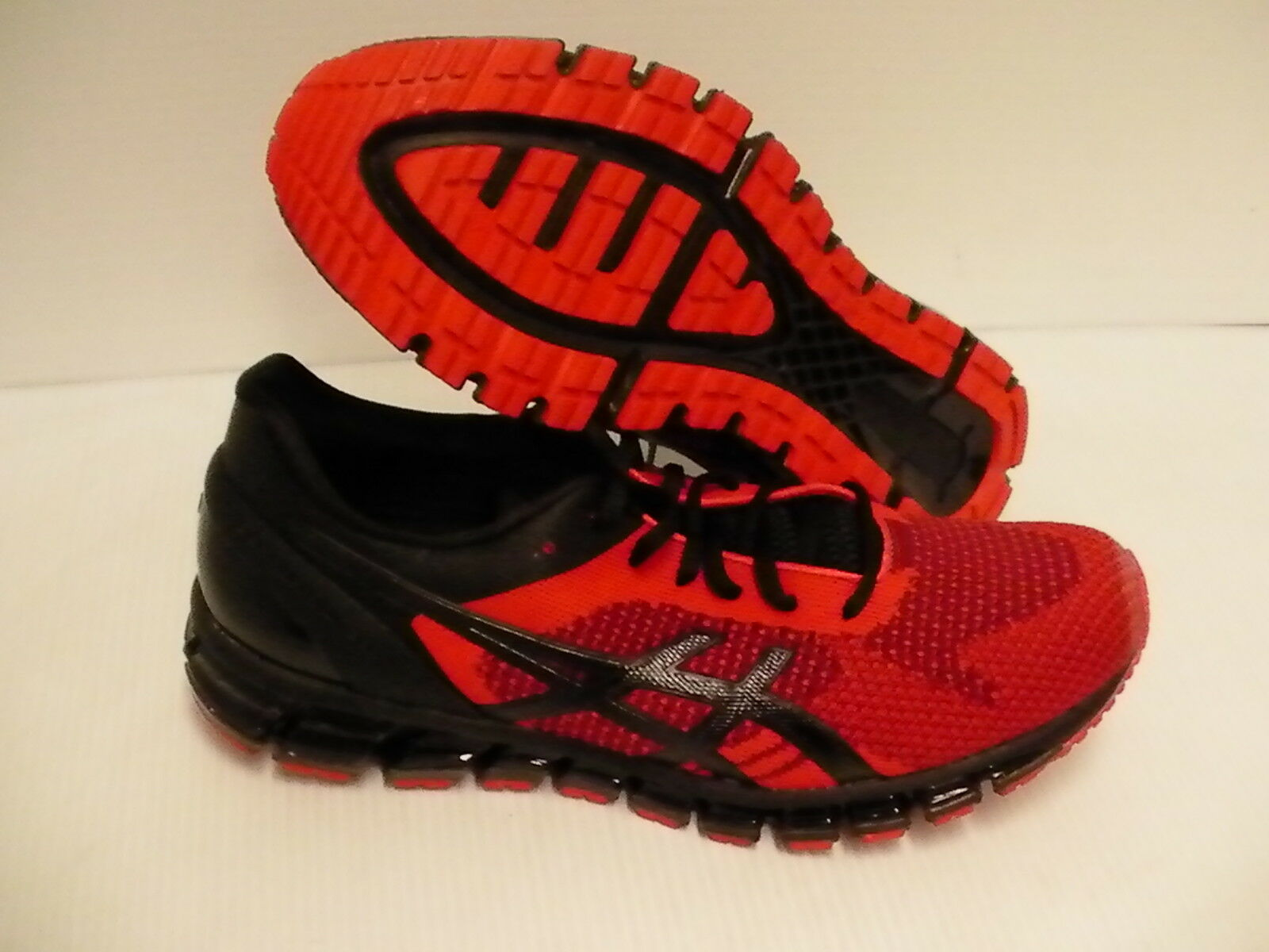 Asics men's running shoes gel quantum 360 knit ot red black onyx size 11.5 us