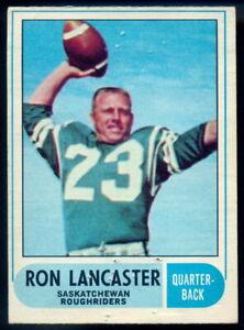 1968-OPC-CFL-FOOTBALL-87-RON-LANCASTER-LG-VG-Saskatchewan-Roughriders-Ohio-Witt