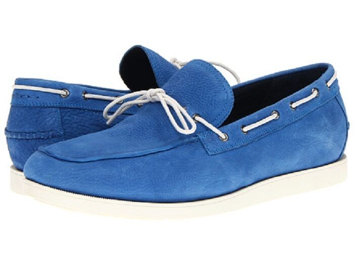 Cole Haan Empire Blue/Ivory Suede Air Mason Loafer Boat Shoe - MSRP  148