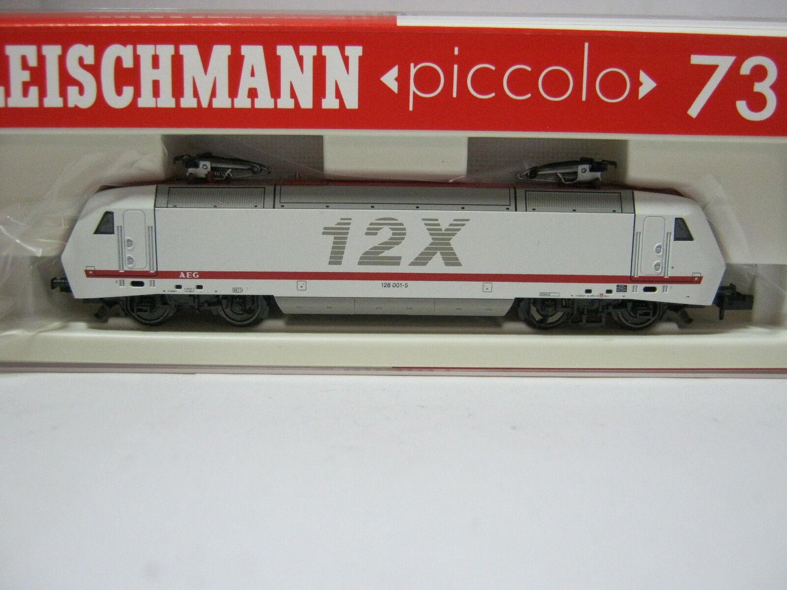 Fleischmann n 7312 Elektro Lok btrnr 128 001-5 DB x12 (rg aw 60s5)