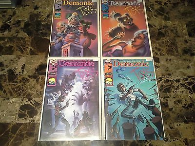 Demonic Toys # 1 2 3 4  1-4 Eternity Comics NM to NM- 9.4 to 9.2 Complete Set