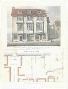 1811-LONDON-The-FALCON-TAVERN-Bankside-Southwark-Shakespeare-Street-Plan-78LI