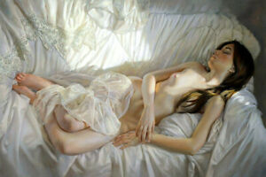 Beautiful-nude-girl-oil-Painting-Giclee-Art-Printed-on-canvas-L2245