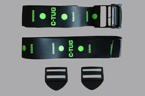 CT-1033 Railblaza C-TUG Strap Kit with Cam lock buckle, 2x Gurt 1.2m + 1.6m