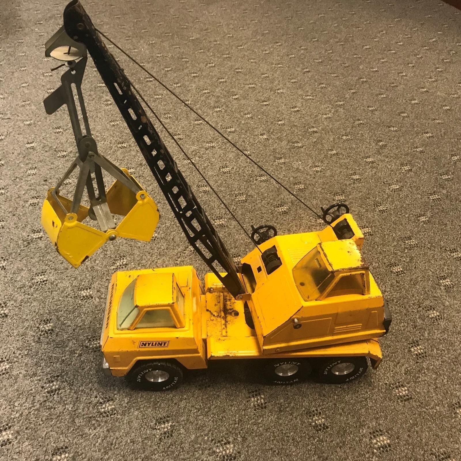 De Colección Nylint Pala Excavadora Juguete Camión De Juguete De Acero Prensado giallo Cable grúa funciona