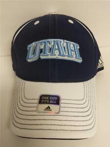5ffbf1c271b0 NEW Utah Jazz Adidas Flex Fit Adult Size OSFA Stretch Fit Blue White ...
