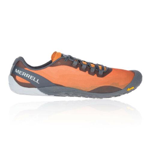 Grey Orange Merrell Mens Vapor Glove 4 Trail Running Shoes Trainers Sneakers