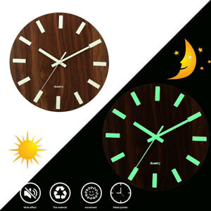 Wall Clock Glow In The Dark Silent Quartz Indoor Living