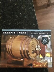 Refinery-Wood-Whiskey-Barrel-Drink-Dispenser-New-in-Box