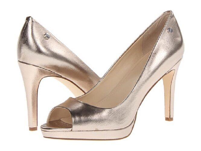 CALVIN KLEIN LADIES Damens HEELS Schuhe Kady M Metallic Pewter Größe 8 M Kady 2c546f