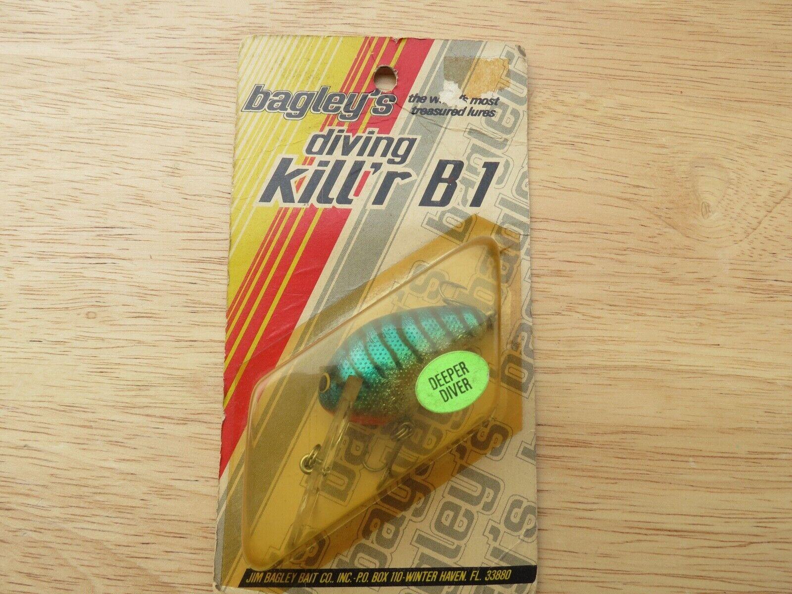 Bagleys Diving Killer B1 fishing lure made in USA (lot)