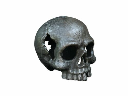 Schädel Totenkopf Totenschädel Skull Gothic aus Gusseisen 11x10x13 cm 4884