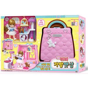 Little Mimi Pet Shop Toy Set Korean Barbie Doll Bag Toy For Girl