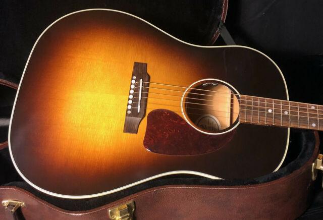 MINT! Gibson J45 Standard Vintage Sunburst Acoustic Guitar OHSC Unplayed 2020