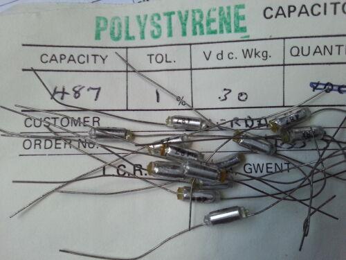 LCR FSC//P 487pF 1/% 30V Polystyrene Capacitors