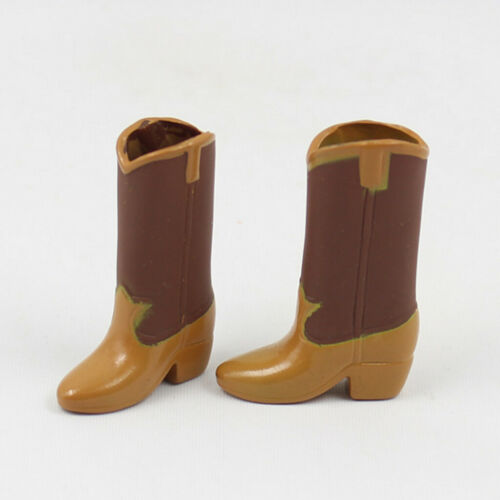 """Brown PU Leather Boots Rainshoes Clothing for 12/"""" Blythe 1//6 BJD DOD Doll"""