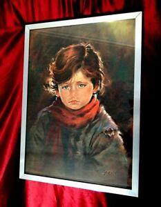 Decorative Arts Crying Child By Carlo Parisi Bimba Che Piange Kinderportraits Reproduction