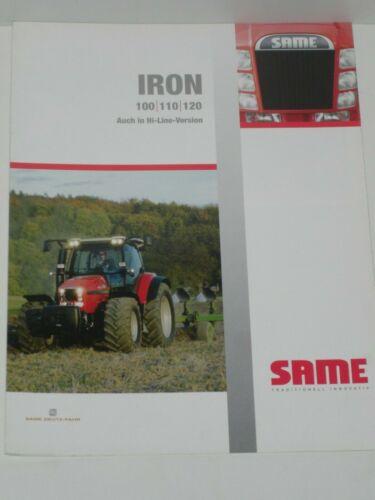 120 Traktoren Prospekt von 10//2005 SAME IRON 100 110 SLH 37
