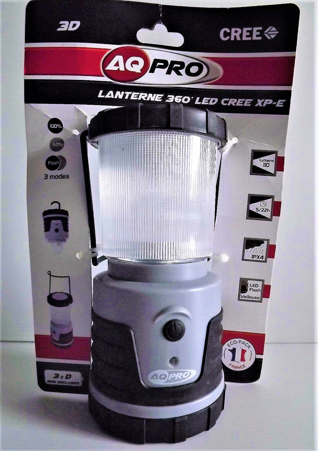 AQ PRO Lantern 360  for camping Work Led 3D Cree XP - E NEW