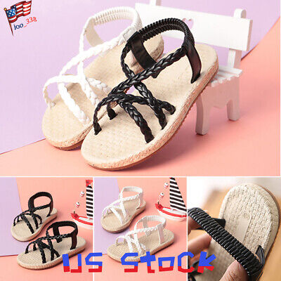 New Girls Silver T-Strappy Toe Ring Flat Rhinestone Sandals Youth Sizes 9-4 US
