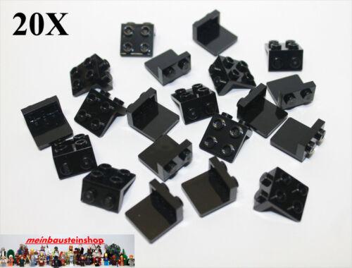 20x lego ® 92411 placas de ángulo convertidor soporte Angle 1x2-2x2 negro Black nuevo