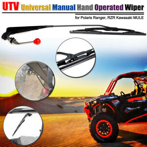Utv Atv Manual Hand Operated Windshield Wiper For Polaris Ranger Rzr 900 1000 Ebay