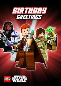 Image Is Loading STAR WARS LEGO Birthday Card Free Postage STARWARS