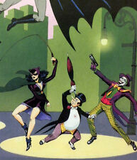 1989 BATMAN GOLDEN YEARS LIMITED DC ART HAND SIGNED BOB KANE W COA JOKER ROBIN