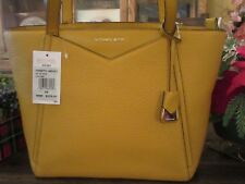 4236c48f09e8 Michael Kors Leather Whitney Small Top Zip M Tote Marigold Yellow 30S8GN1T1L