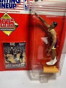 Karl Malone 1995 Utah Jazz Starting Lineup Action Figure + Card