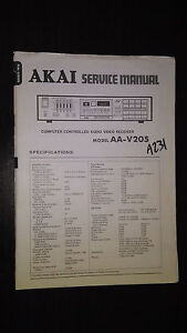 Akai aa-v205 service manual original repair book stereo tuner ...