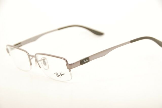 Authentic Ray Ban RB 6158 2553 Gunmetal 53mm Half Rim Frames ...