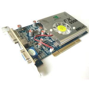 NEW-nVIDIA-FX5500-256MB-128bit-PCI-DDR-VGA-DVI-S-Video-Video-Card-FX-5500-3D