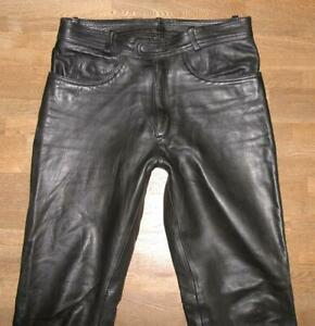 034-INDIAN-ANGEL-034-Herren-LEDERJEANS-Biker-Lederhose-in-schwarz-ca-W34-034-L33-034