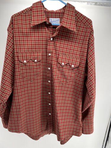 Rockmount Ranch Wear Mens Western Shirt XL Red Pla
