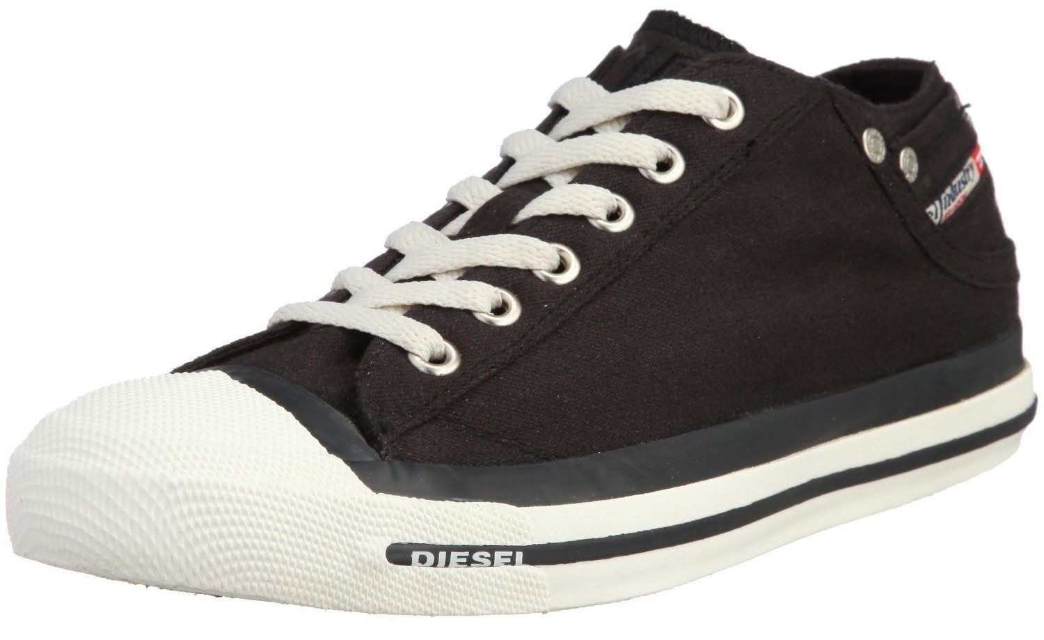 Diesel Exposure Low Low Exposure Black White Mens Canvas New Trainers Shoes Boots e9b392
