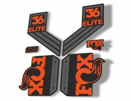 FOX 36 Elite Performance 2017-18 Fork Suspension Factory Decal Sticker Orange 1