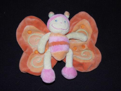 Nicotoy Schmetterling Junge Biene orange rosa Schmusetuch 047 neuwertig