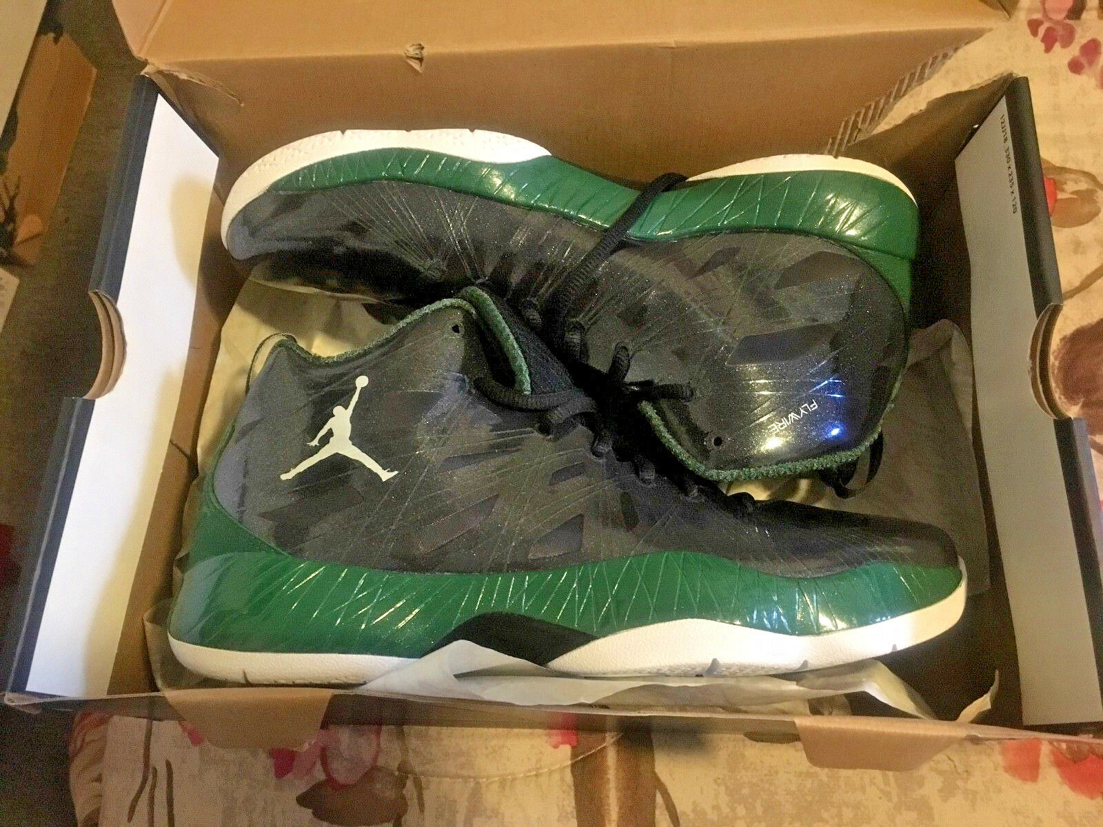 Nike Air Jordan 2012 Lite, Size 9.5, Flywire, DS, Retail color black , green and