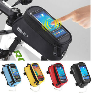 Roswheel-Cycling-Bicycle-Bike-Frame-Pannier-Front-Tube-Bag-Cell-Phone-Holder-New