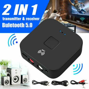 Bluetooth-5-0-Receiver-Wireless-Buchse-AUX-NFC-zu-2RCA-Audio-Stereo-Adapter