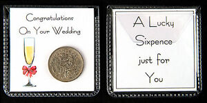 Image is loading Lucky-Sixpence-Gift-Wedding -Anniversay-Civil-Partnership-Engagement-