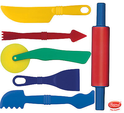 Play Doh und andere Knete 6 Teiliges Zubehör Tools für Magic Sand Kinetic Sand